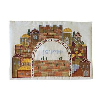 תמונה של כיסוי אפיקומן - רקמה - ירושלים - AME-1 | יאיר עמנואל