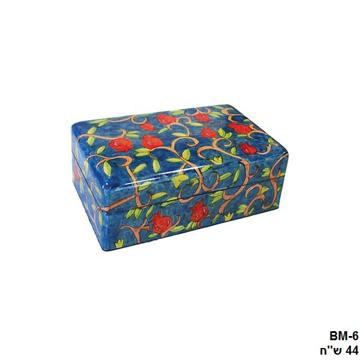 תמונה של קופסת תכשיטים בינונית - פרחים - BM-6   יאיר עמנואל