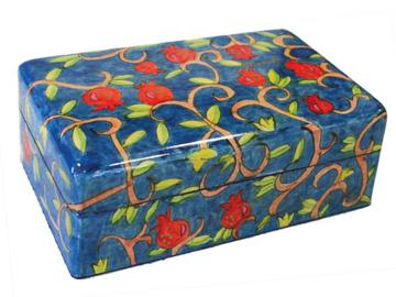 תמונה של קופסת תכשיטים בינונית - רימונים - BM-7   יאיר עמנואל