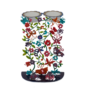Picture of פמוטים - חיתוך לייזר + ציור יד - פרפרים - CC-1 | יאיר עמנואל