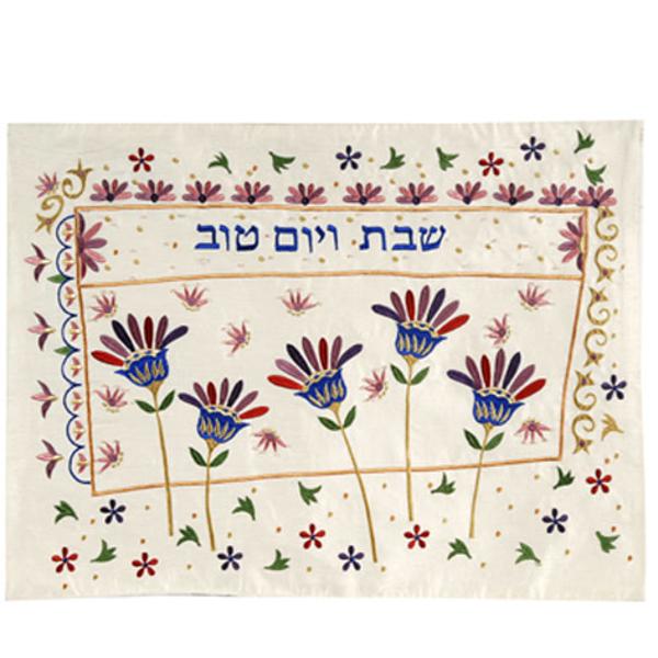 Picture of כיסוי חלה רקמת מכונה - פרחים - CME-8   יאיר עמנואל
