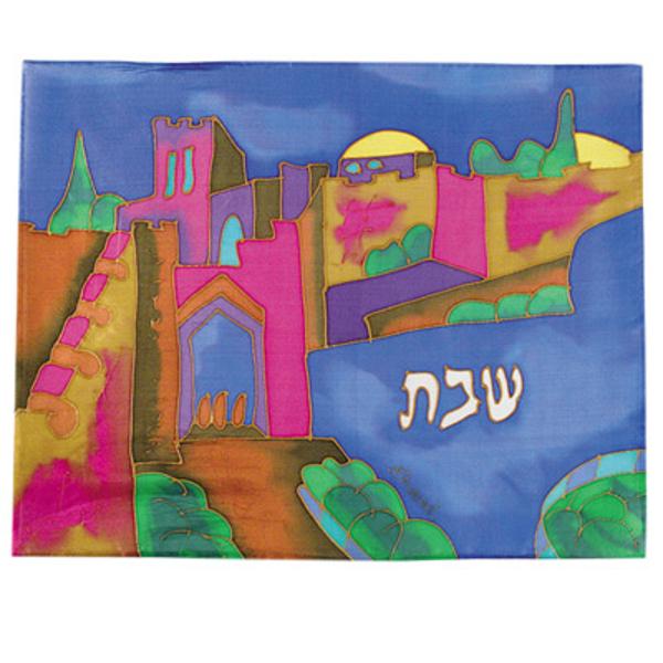 תמונה של כיסוי חלה - ציור על משי - שער יפו - CSE-4 | יאיר עמנואל