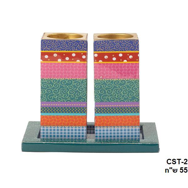 Picture of פמוטים- עץ מודפס - צבעוני - CST-2 | יאיר עמנואל