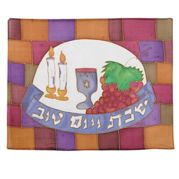 תמונה של כיסוי חלה - ציור על משי - כותל - CSY-7   יאיר עמנואל