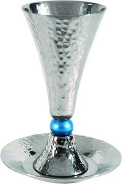 תמונה של גביע קידוש - קונוס + כדור טורקיז - CUC-4 | יאיר עמנואל
