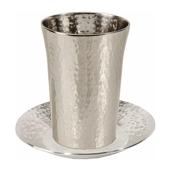 תמונה של כוס קידוש - נירוסטה - עבודת פטיש - CUD-1   יאיר עמנואל