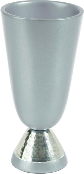 תמונה של גביע קידוש אלומיניום + עבודת פטיש - טבעי - CUK-1 | יאיר עמנואל