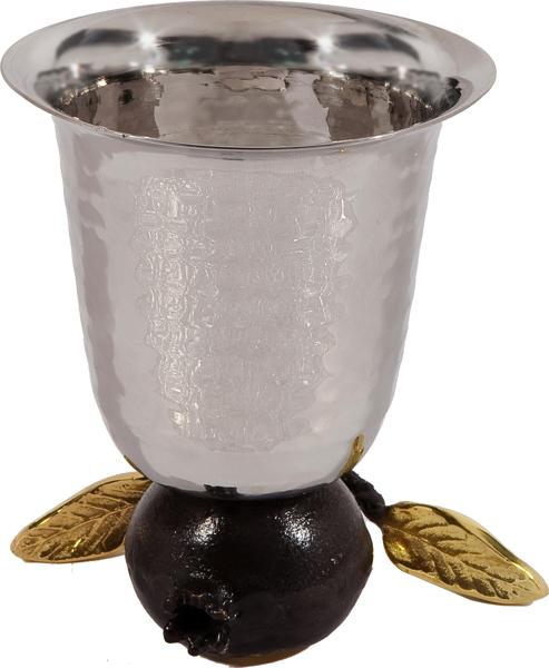 Picture of כוס קידוש מתהפכת - נירוסטה - רימון - CUV-1 | יאיר עמנואל