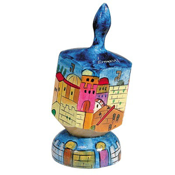 תמונה של סביבון גדול + מעמד - ירושלים (שם) - DRL-9B | יאיר עמנואל