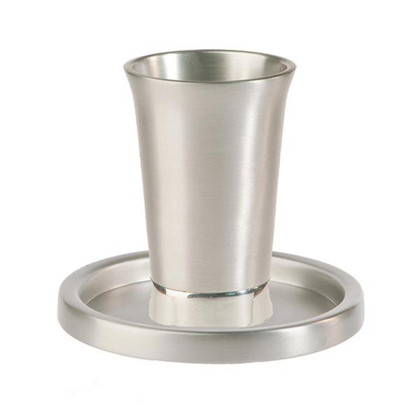 Picture of כוס קידוש + צלחת - אלומיניום - GM-1 | יאיר עמנואל