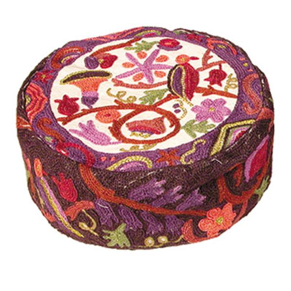Picture of כובע רקמת יד - ציפורים - צבעוני - HAE-5 | יאיר עמנואל