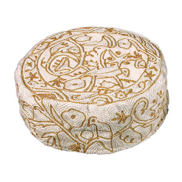 תמונה של כובע רקמת יד- ציפורים - זהב - HAE-6   יאיר עמנואל