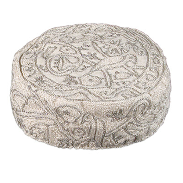 Picture of כובע רקמת יד - ציפורים - כסף - HAE-7   יאיר עמנואל