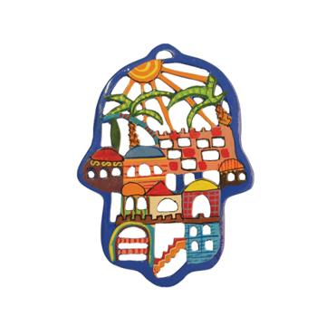 Picture of חמסה חיתוך לייזר מצויר - ירושלים - HCL-4 | יאיר עמנואל