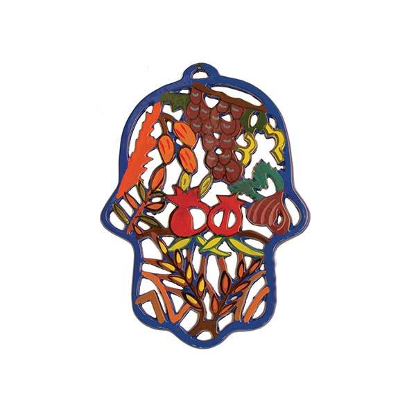 תמונה של חמסה חיתוך לייזר מצויר - שבעת המינים - HCL-5   יאיר עמנואל