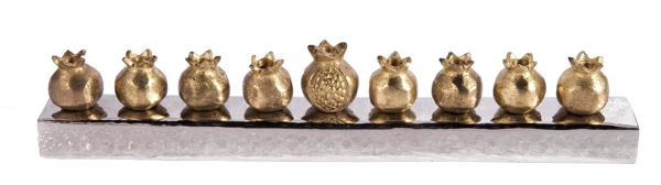 Picture of חנוכיה - רימונים - זהב - HK-2 | יאיר עמנואל