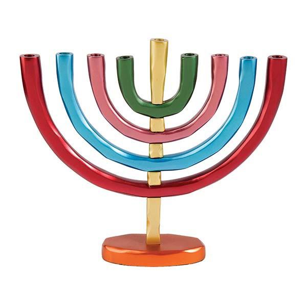 תמונה של חנוכיה 9 קנים - צבעוני - HMB-3 | יאיר עמנואל