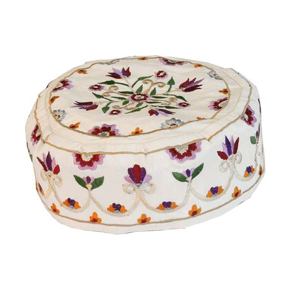Picture of כובע רקמה - פרחים - HME-1W   יאיר עמנואל
