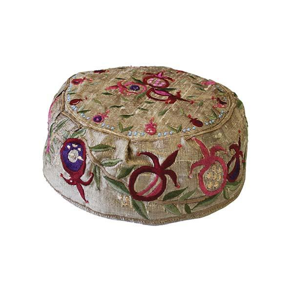 Picture of כובע רקמה - רימונים זהב - HME-2G | יאיר עמנואל