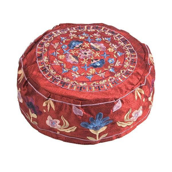 תמונה של כובע רקמה - פרחים בורדו - HME-3M | יאיר עמנואל