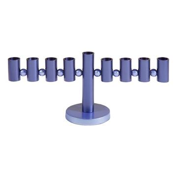 Picture of חנוכיה - צינורות - כחול - HMP-3 | יאיר עמנואל
