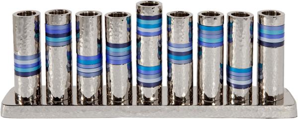 תמונה של חנוכיה - טבעות - כחול - HMV-2 | יאיר עמנואל