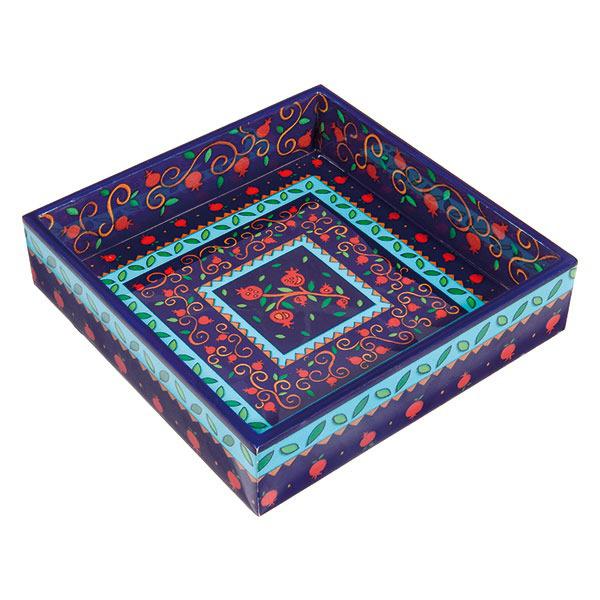 תמונה של קופסה למצה - עץ מודפס - רימונים - MAW-1   יאיר עמנואל