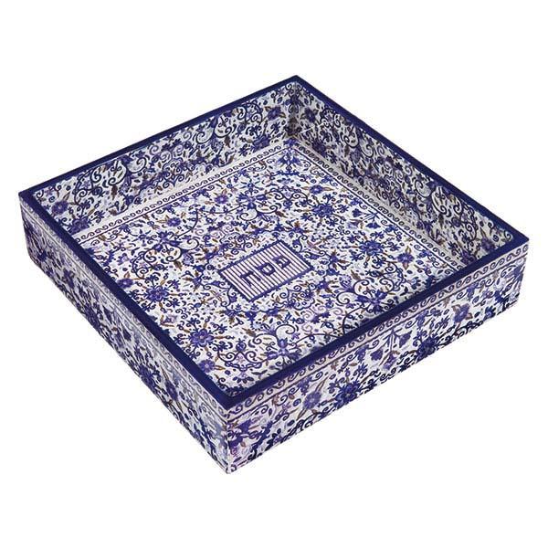 Picture of קופסה למצה - עץ מודפס - כחול - MAW-2 | יאיר עמנואל
