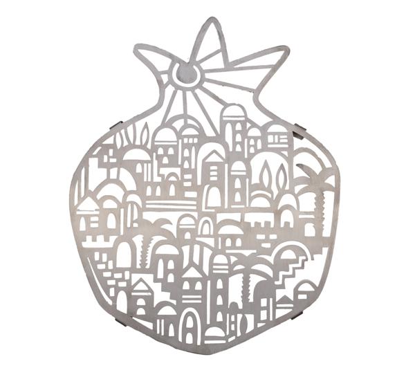תמונה של תחתית נירוסטה - חיתוך לייזר - ירושלים - MHA-3   יאיר עמנואל