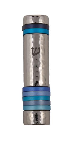 תמונה של מזוזה - טבעות - כחול - MZJ-2 | יאיר עמנואל