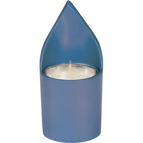 תמונה של מתקן לנר נשמה + נר - כחול - NNM-3   יאיר עמנואל