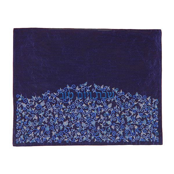 תמונה של כיסוי חלה - רימונים - כחול - תואם לכיסוי פלטה - PCH-3 | יאיר עמנואל
