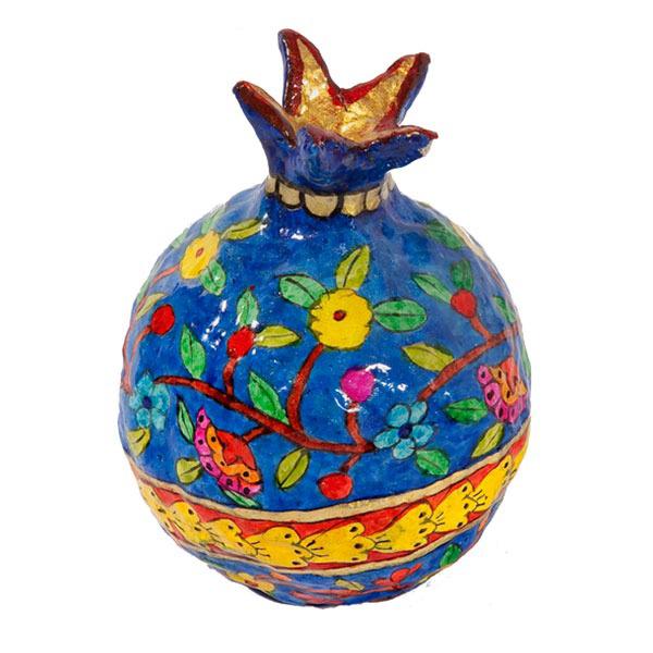 Picture of רימון - עיסת נייר - גדול - פרחים - PM-15D | יאיר עמנואל