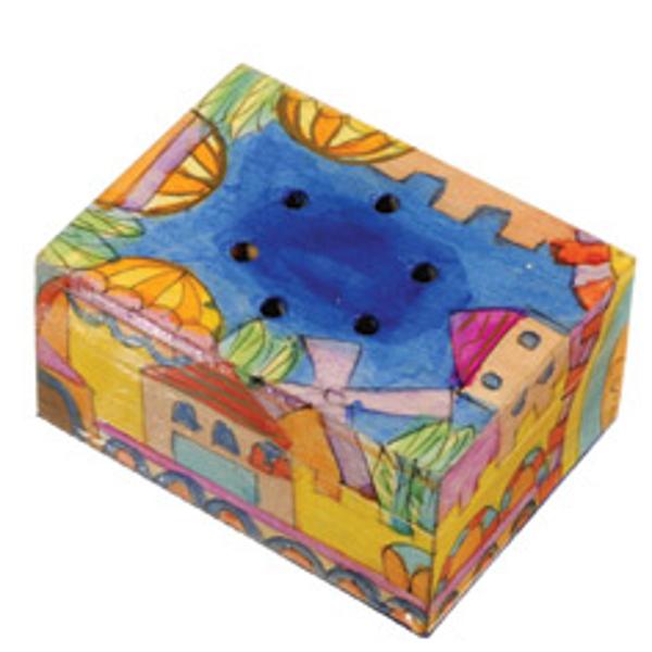 Picture of קופסת בשמים מצוירת - ירושלים - SB-3   יאיר עמנואל