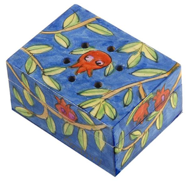 Picture of קופסת בשמים מצוירת - רימונים - SB-4 | יאיר עמנואל