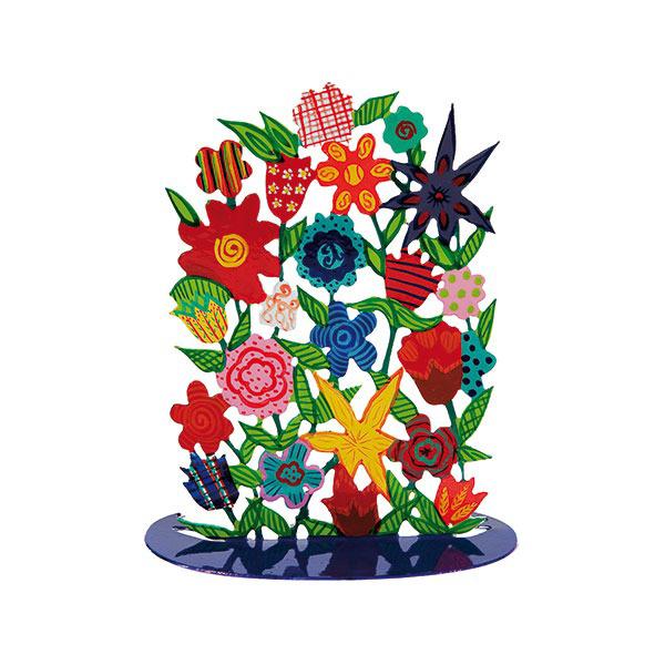 תמונה של סטנד מתכת - ציור יד - פרחים - SLC-3 | יאיר עמנואל