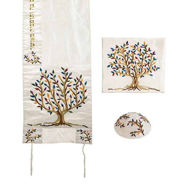 תמונה של טלית רקמה מיוחדת - עץ חיים - צבעוני - TAC-3 | יאיר עמנואל