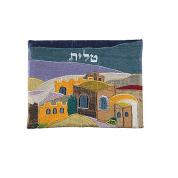 Picture of תיק טלית - אפליקציה משי פראי - ירושלים צבעוני - TBA-3   יאיר עמנואל