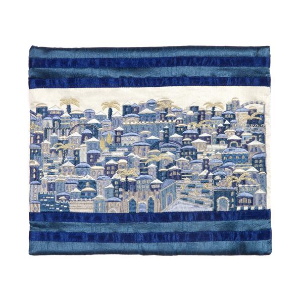 Picture of תיק טלית - רקמה מלאה - ירושלים כחול - TBB-4B | יאיר עמנואל