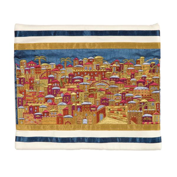תמונה של תיק טלית - רקמה מלאה - ירושלים צבעוני - TBB-4W | יאיר עמנואל