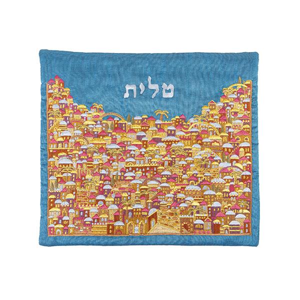תמונה של תיק טלית - רקמה מלאה - ירושלים צבעוני - TBF-11 | יאיר עמנואל