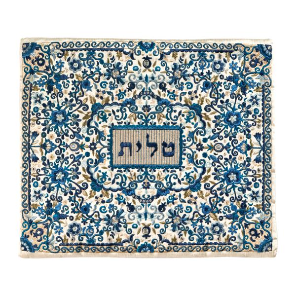 תמונה של תיק טלית - רקמה מלאה - כחול - TBF-2 | יאיר עמנואל