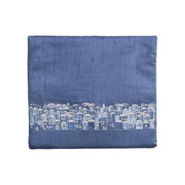 תמונה של תיק תפילין - מתאים לטלית מסורתית - ירושלים - כחול + אפור - TBS-8B   יאיר עמנואל