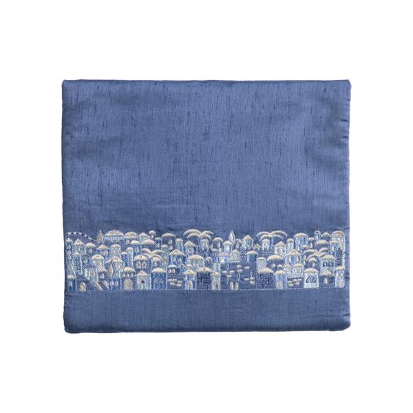 תמונה של תיק תפילין - מתאים לטלית מסורתית - ירושלים - כחול + אפור - TBS-8B | יאיר עמנואל