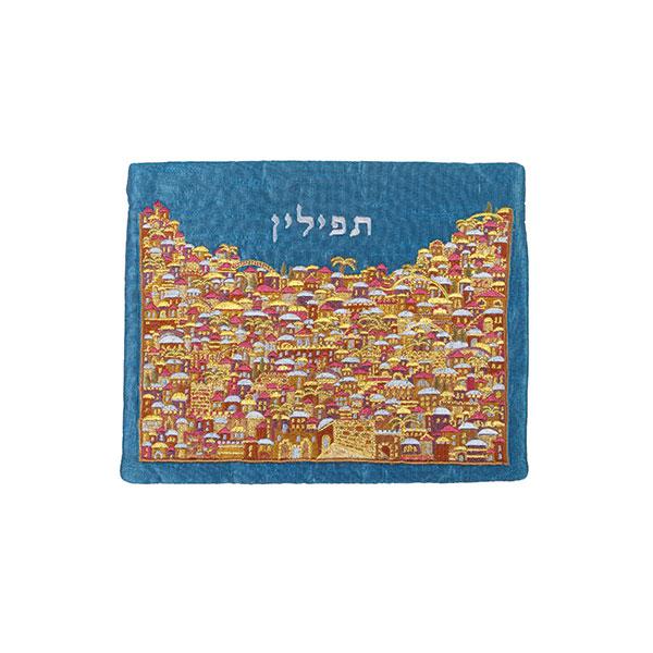 תמונה של תיק תפילין - רקמה מלאה - ירושלים- צבעוני - TFF-11   יאיר עמנואל