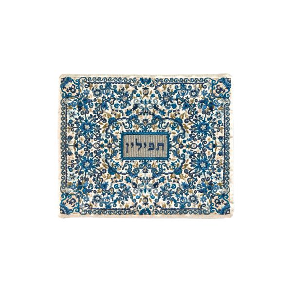 תמונה של תיק תפילין - רקמה מלאה - כחול - TFF-2   יאיר עמנואל