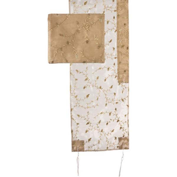 Picture of טלית אורגנזה רקמה מלאה - זהב - TRZ-1G | יאיר עמנואל