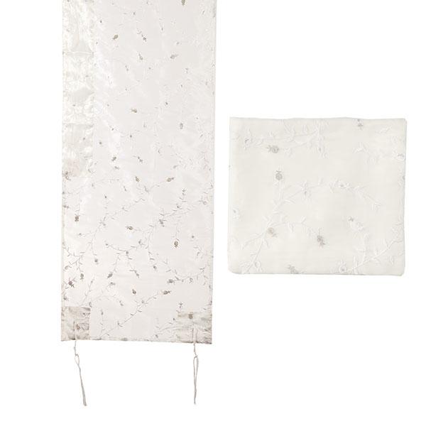 תמונה של טלית אורגנזה רקמה מלאה - לבן - TRZ-1W | יאיר עמנואל