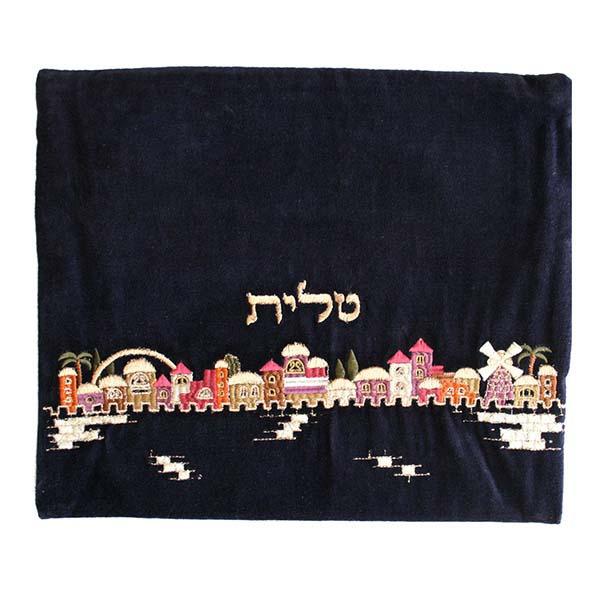 תמונה של תיק טלית - קטיפה - ירושלים - צבעוני - TV-1 | יאיר עמנואל